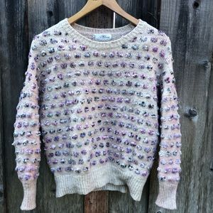 vintage bubble crew neck knit sweater
